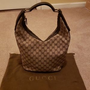 Gucci canvas Hobo bag with GG logo